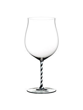 Wine Glass Burgundy Grand Cru Black & White